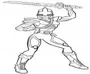 power rangers sword mega force dessin à colorier