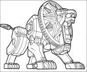 zord metal tiger dessin à colorier