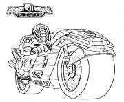 power rangers spd moto speed dessin à colorier