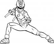 power rangers super samurai dessin à colorier