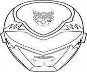 masque power rangers ninja steel dessin à colorier