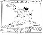 power rangers spd car dessin à colorier