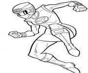 girl power rangers samurai jump dessin à colorier