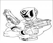 power rangers fusil arme gun dessin à colorier