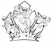 triple attack power rangers  dessin à colorier