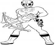 power rangers megaforce dessin à colorier