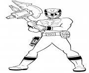 power rangers mega force hammer dessin à colorier