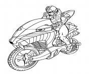 power rangers moto bike speed dessin à colorier