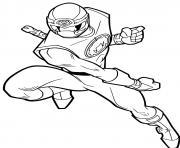 power rangers samurai attack dessin à colorier