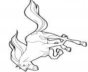 cheval calypso au galop horseland dessin à colorier