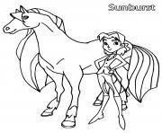 sunbrust horseland dessin à colorier