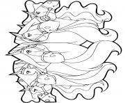 chevaux pepper calypso scarlet chili panache horseland dessin à colorier