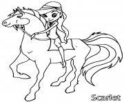 scarlet horseland dessin à colorier