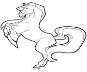 chili cheval horseland dessin à colorier