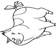 lili cochon de horseland dessin à colorier