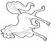 panache cheval femelle pinto horseland dessin à colorier