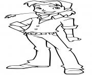 basile 12 ans fils des proprietaires de horseland dessin à colorier
