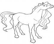 pepper cheval de zoe warmbloods hollandais horseland dessin à colorier