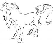cheval scarlet horseland dessin à colorier