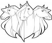 les chevaux calypso scarlet chili horseland dessin à colorier