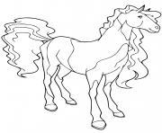 panache cheval de rosa rodriguez horseland dessin à colorier