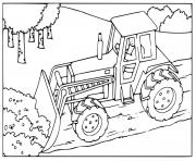 Coloriage engine powered lift truck engin chantier dessin