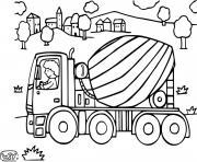 Coloriage soil compactor engin de chantier compacteur dessin