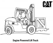 coloriage engine powered lift truck engin chantier