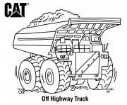coloriage off highway truck engin de chantier