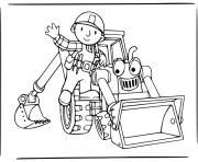 bob le bricoleur chantier de construction dessin à colorier