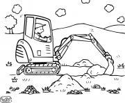 coloriage chantier engin entrepreneur retrait de la terre