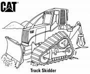 coloriage track skidder engin chantier