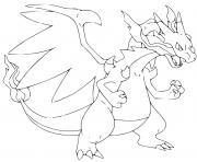 Coloriage dracaufeu pokemon mauve avec dessin modele dessin