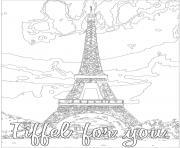 eiffel for you dessin à colorier