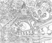 mandala adulte tour eiffel dessin à colorier
