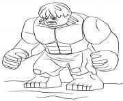 Coloriage Hulk leve ses deux brras dessin