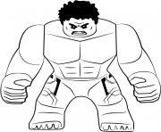 Coloriage Hulk s enerve contre une porte dessin