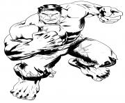 dessin hulk realiste dessin à colorier