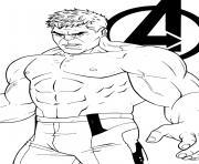 Coloriage Hulk combat un mechant dessin