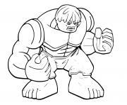 Coloriage lego hulk dessin