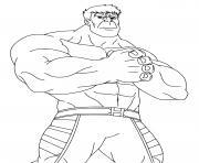 Coloriage dessin de l incroyable Hulk dessin