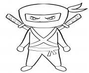 super ninja dessin à colorier