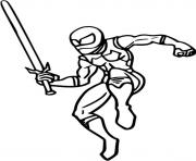 Coloriage ninja en feu je suis fort dessin