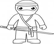 ninja mercenaires shinobi dessin à colorier
