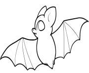 chauve souris avec de grandes ailes dessin à colorier