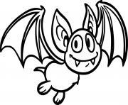 chauve souris vampire halloween dessin à colorier