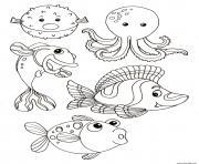 Coloriage etoile de mer maternelle grande section dessin