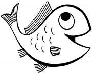 poisson rouge dessin à colorier