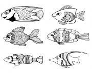 poissons animaux aquatiques dessin à colorier