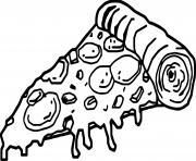 Coloriage pizza kawaii dessin